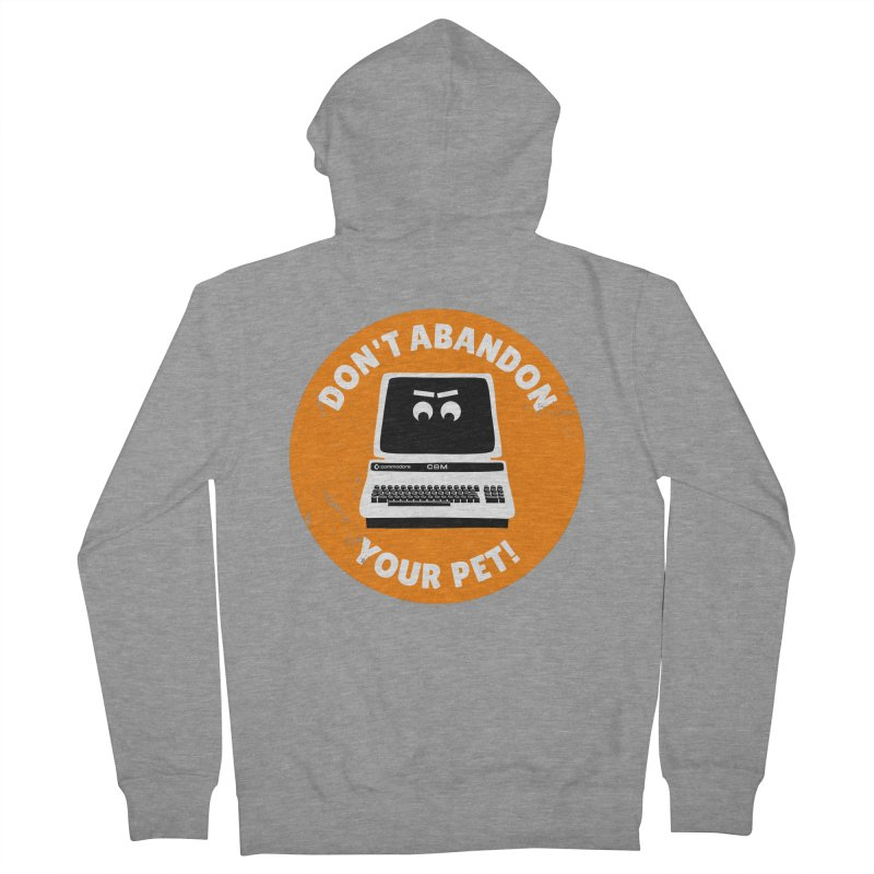 Don't abandon your (Commodore) PET Men's French Terry Zip-Up Hoody by 2pxSolidBlack