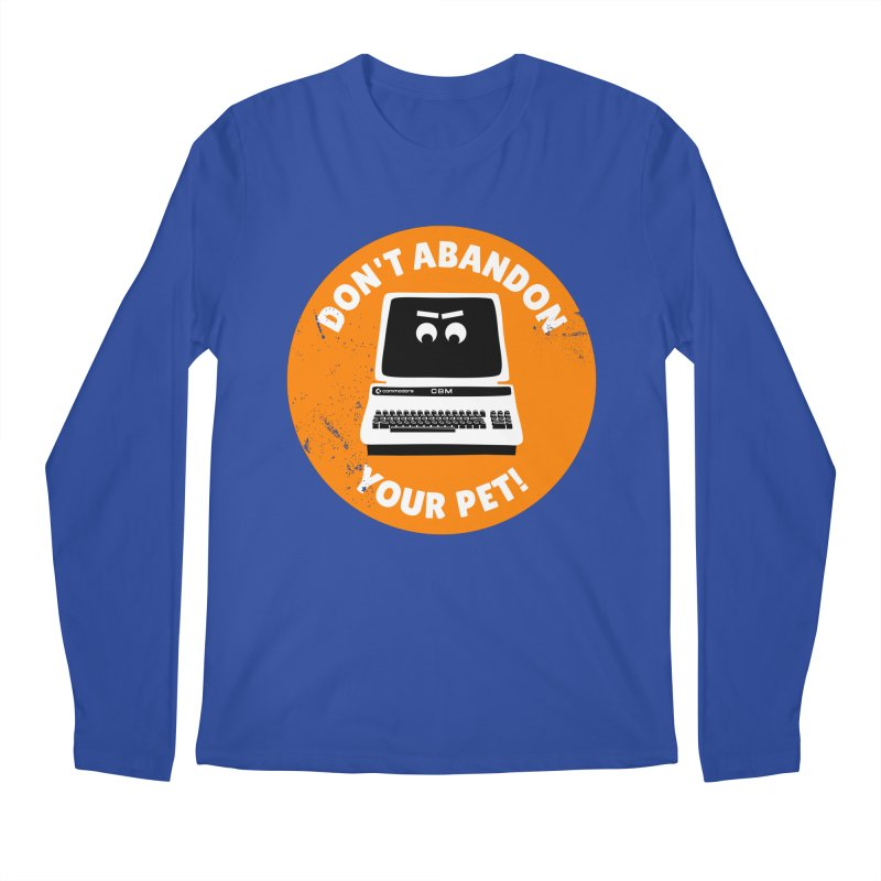 Don't abandon your (Commodore) PET Men's Longsleeve T-Shirt by 2pxSolidBlack