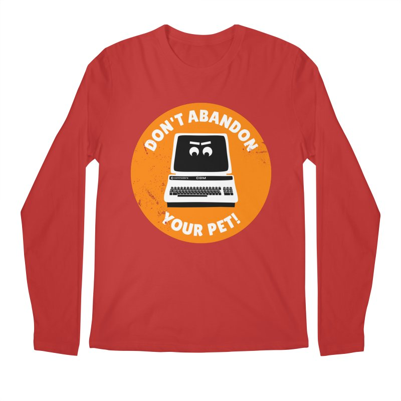 Don't abandon your (Commodore) PET Men's Regular Longsleeve T-Shirt by 2pxSolidBlack