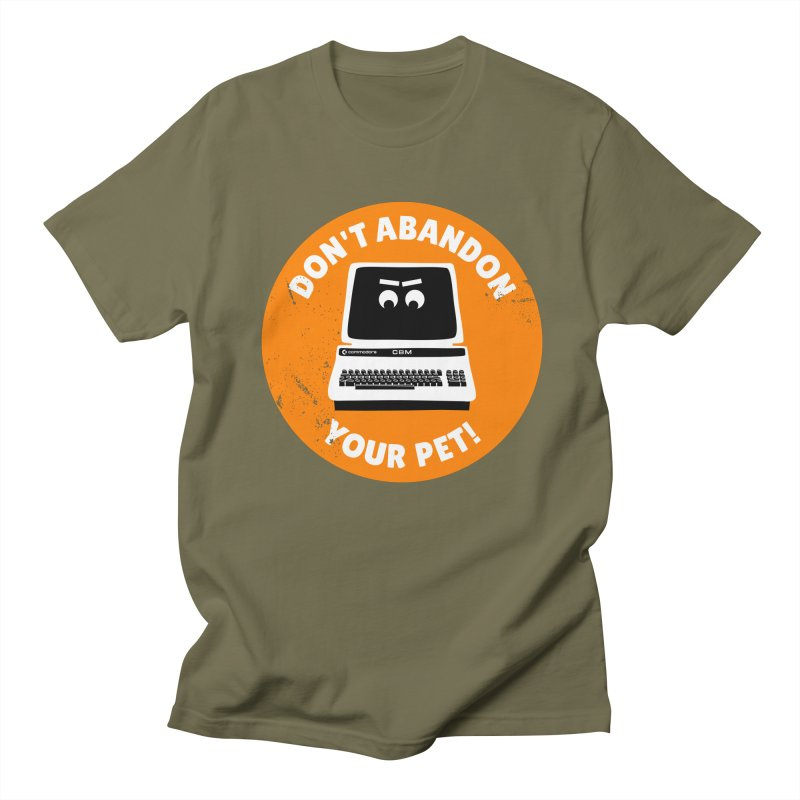 Don't abandon your (Commodore) PET Men's T-Shirt by 2pxSolidBlack
