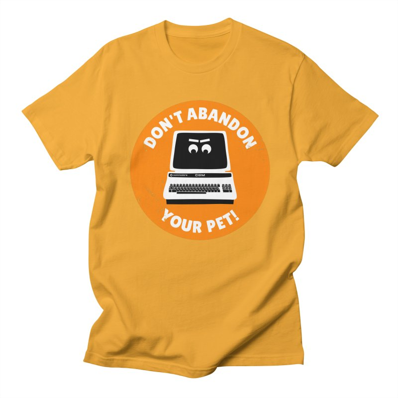 Don't abandon your (Commodore) PET Men's Regular T-Shirt by 2pxSolidBlack