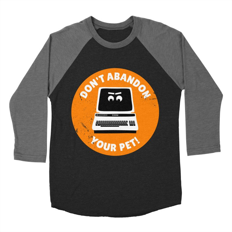 Don't abandon your (Commodore) PET Men's Baseball Triblend Longsleeve T-Shirt by 2pxSolidBlack