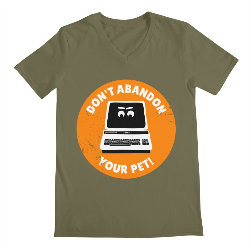 Don't abandon your (Commodore) PET Men's Regular V-Neck by 2pxSolidBlack