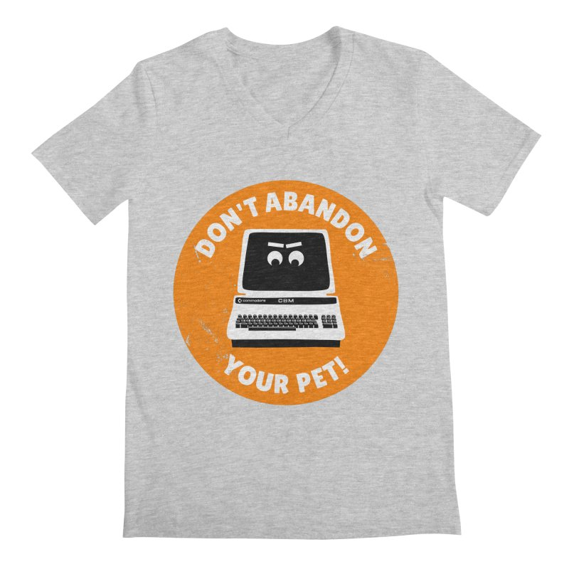 Don't abandon your (Commodore) PET Men's V-Neck by 2pxSolidBlack