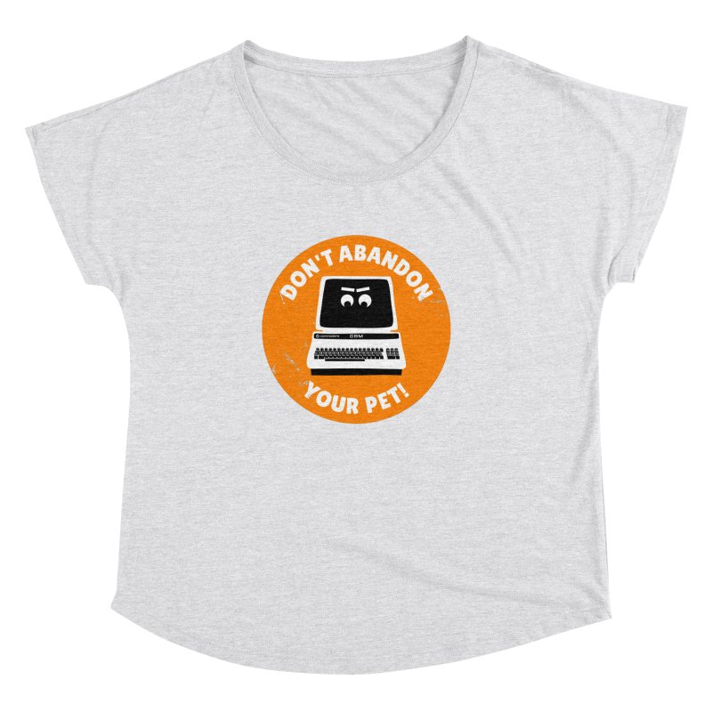 Don't abandon your (Commodore) PET Women's Dolman Scoop Neck by 2pxSolidBlack
