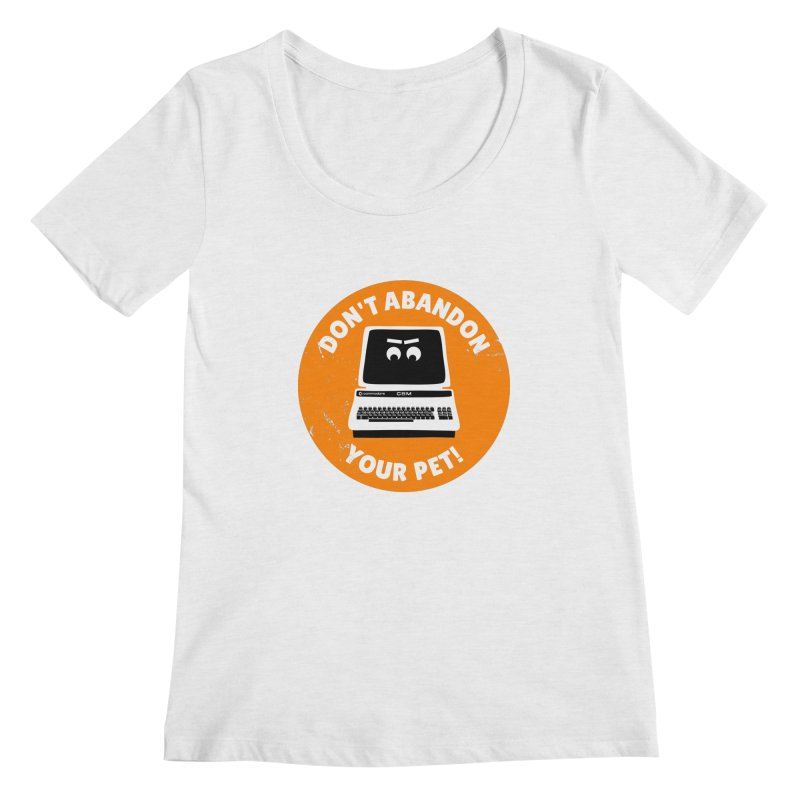 Don't abandon your (Commodore) PET Women's Regular Scoop Neck by 2pxSolidBlack