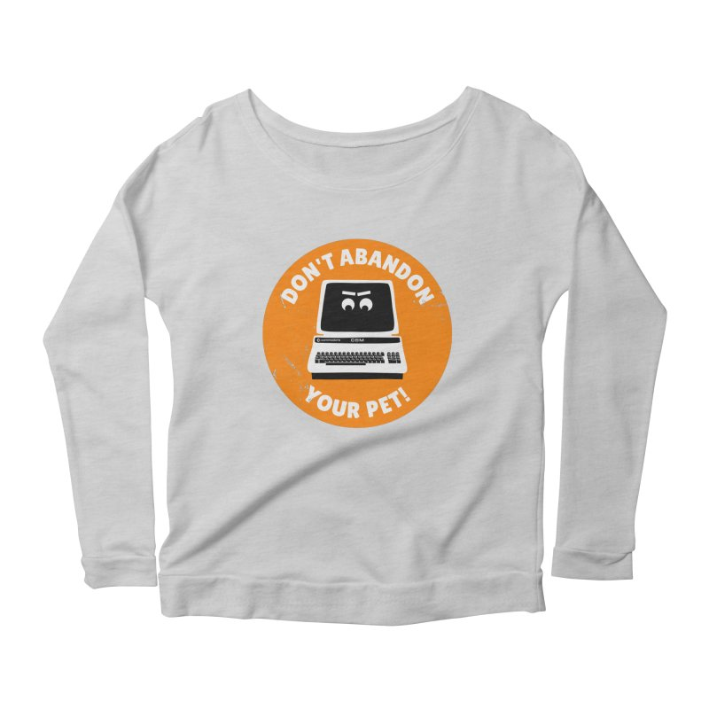 Don't abandon your (Commodore) PET Women's Longsleeve Scoopneck  by 2pxSolidBlack