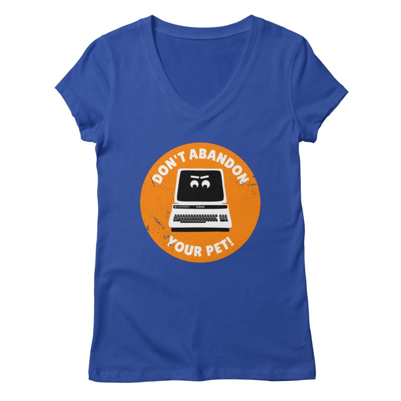 Don't abandon your (Commodore) PET Women's V-Neck by 2pxSolidBlack