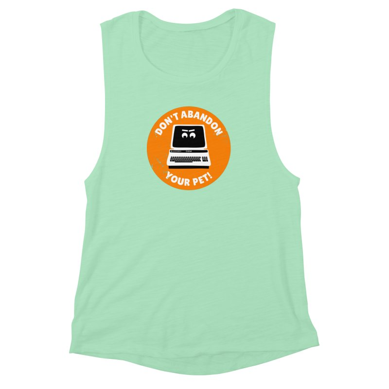 Don't abandon your (Commodore) PET Women's Muscle Tank by 2pxSolidBlack