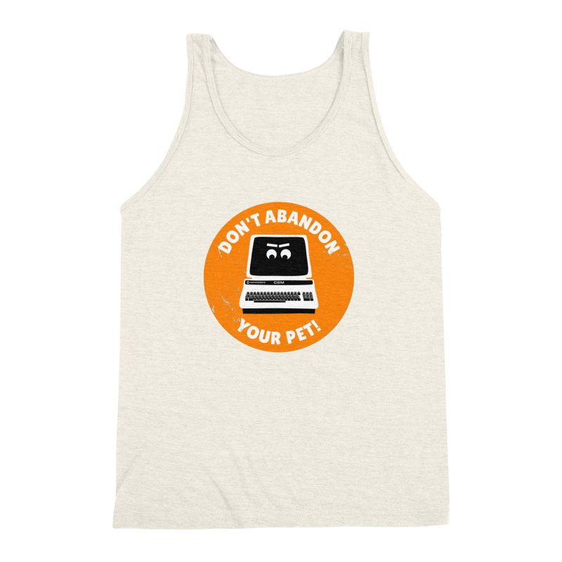 Don't abandon your (Commodore) PET Men's Triblend Tank by 2pxSolidBlack