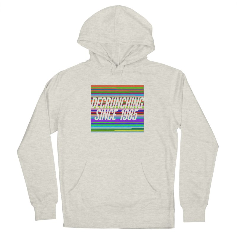 Decrunching Since 1985 Women's French Terry Pullover Hoody by 2pxSolidBlack
