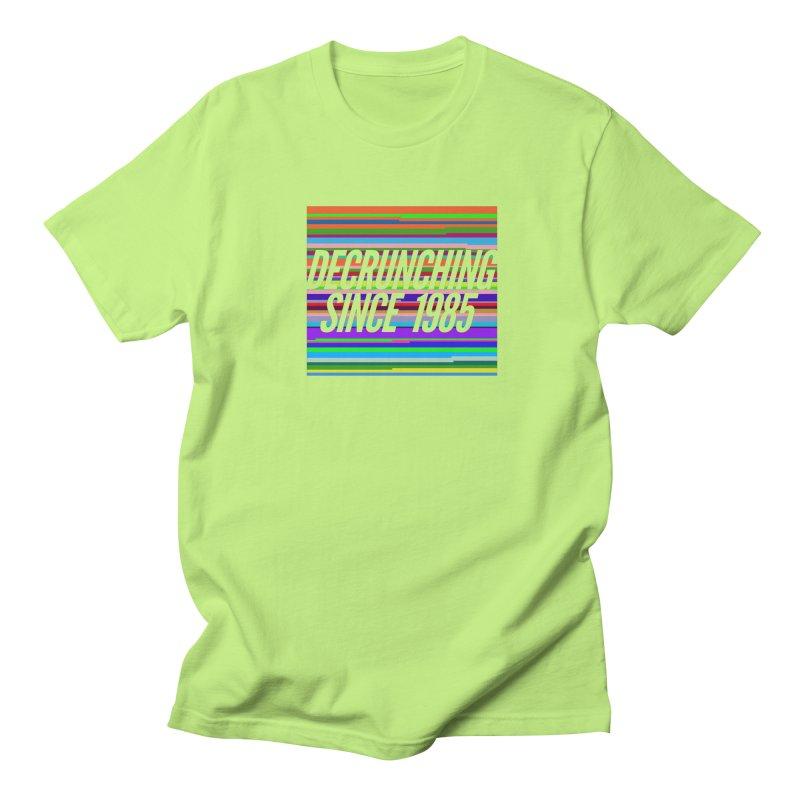Decrunching Since 1985 Men's Regular T-Shirt by 2pxSolidBlack