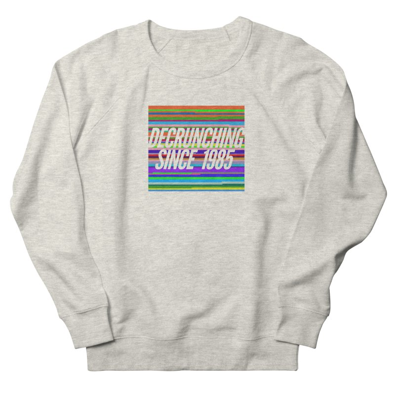 Decrunching Since 1985 Men's French Terry Sweatshirt by 2pxSolidBlack