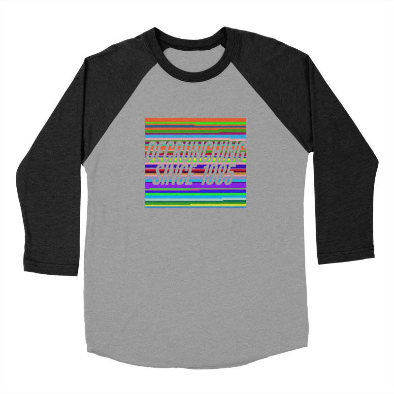 Decrunching Since 1985 Men's Baseball Triblend Longsleeve T-Shirt by 2pxSolidBlack