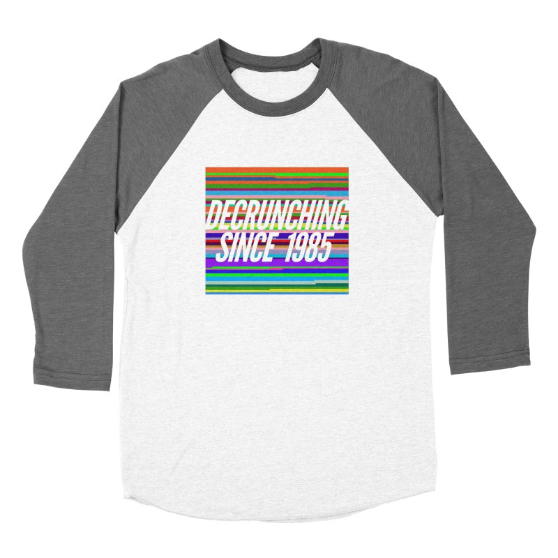 Decrunching Since 1985 Men's Baseball Triblend T-Shirt by 2pxSolidBlack