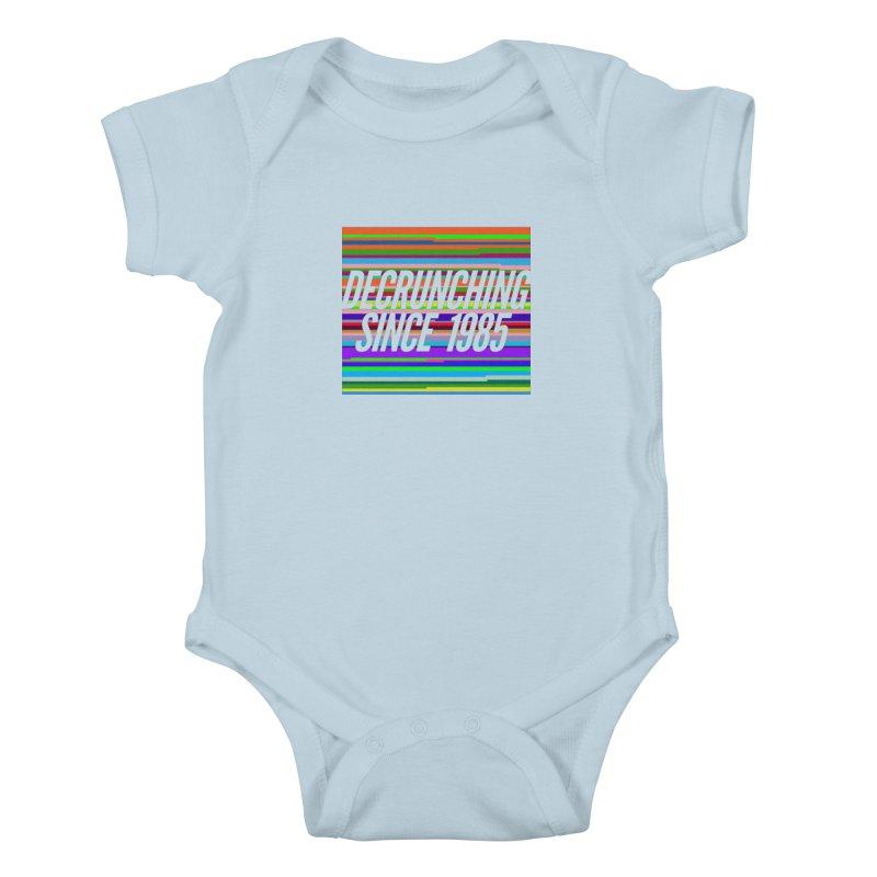 Decrunching Since 1985 Kids Baby Bodysuit by 2pxSolidBlack