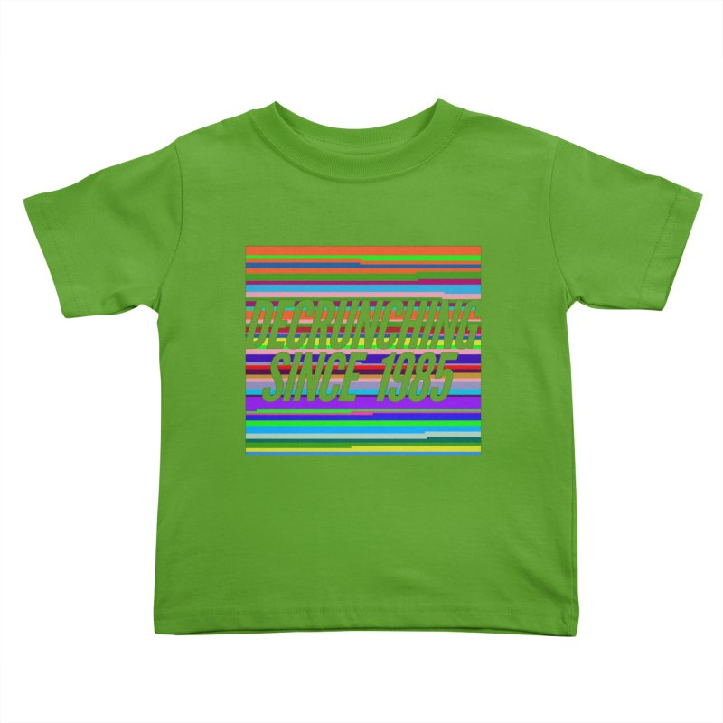 Decrunching Since 1985 Kids Toddler T-Shirt by 2pxSolidBlack