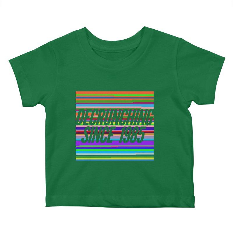Decrunching Since 1985 Kids Baby T-Shirt by 2pxSolidBlack