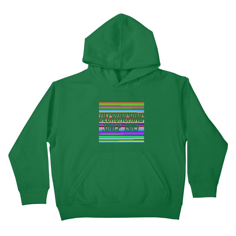Decrunching Since 1985 Kids Pullover Hoody by 2pxSolidBlack