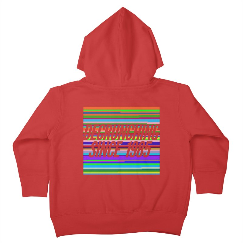 Decrunching Since 1985 Kids Toddler Zip-Up Hoody by 2pxSolidBlack
