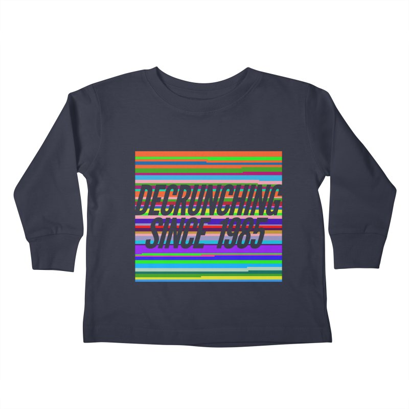 Decrunching Since 1985 Kids Toddler Longsleeve T-Shirt by 2pxSolidBlack