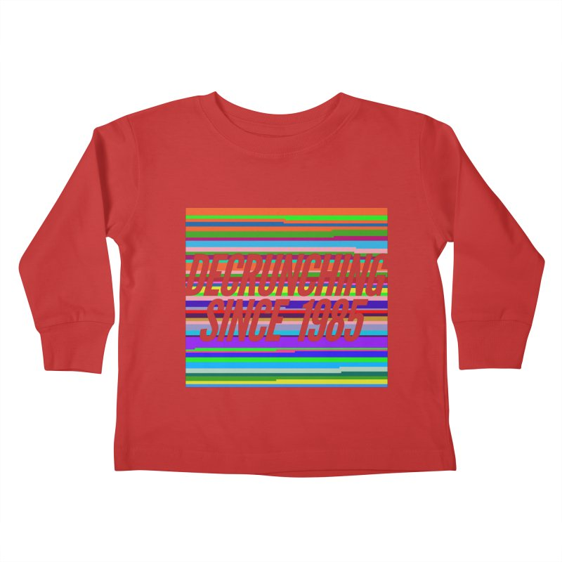 Decrunching Since 1985 Kids Toddler Longsleeve T-Shirt by 2pxSolidBlack