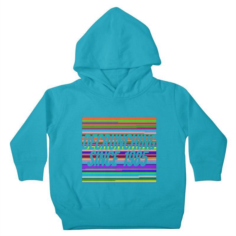 Decrunching Since 1985 Kids Toddler Pullover Hoody by 2pxSolidBlack