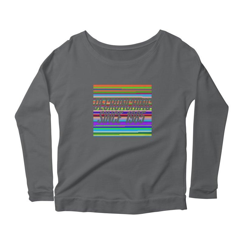 Decrunching Since 1985 Women's Scoop Neck Longsleeve T-Shirt by 2pxSolidBlack