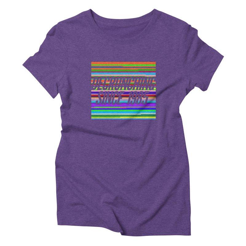 Decrunching Since 1985 Women's Triblend T-Shirt by 2pxSolidBlack