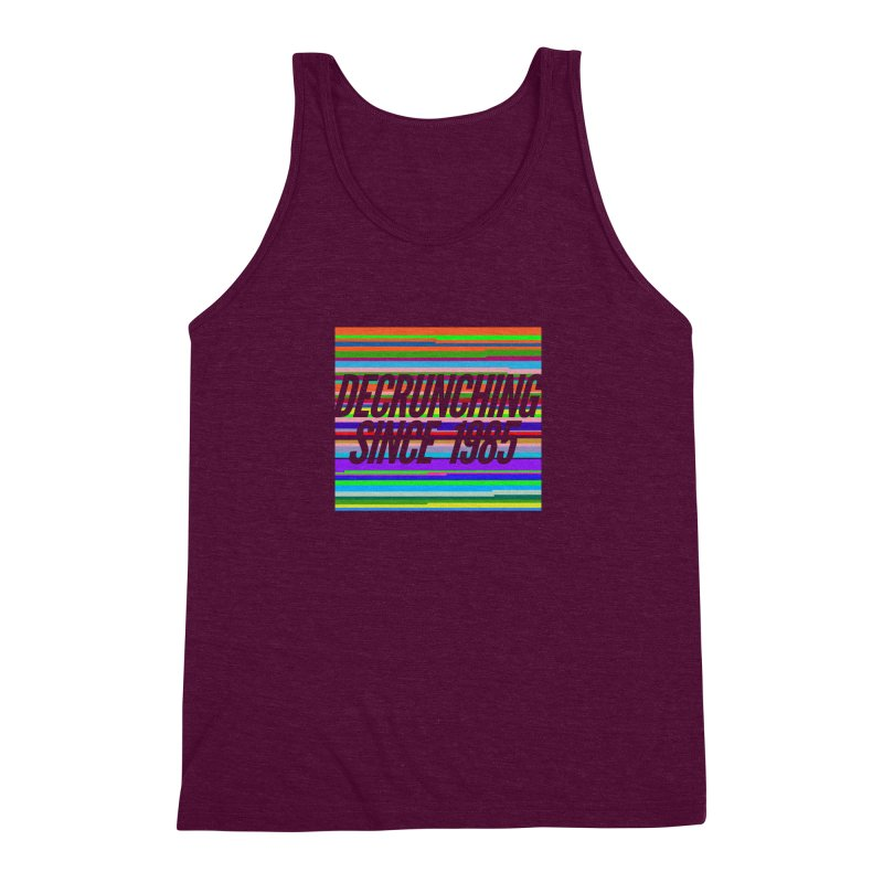 Decrunching Since 1985 Men's Triblend Tank by 2pxSolidBlack