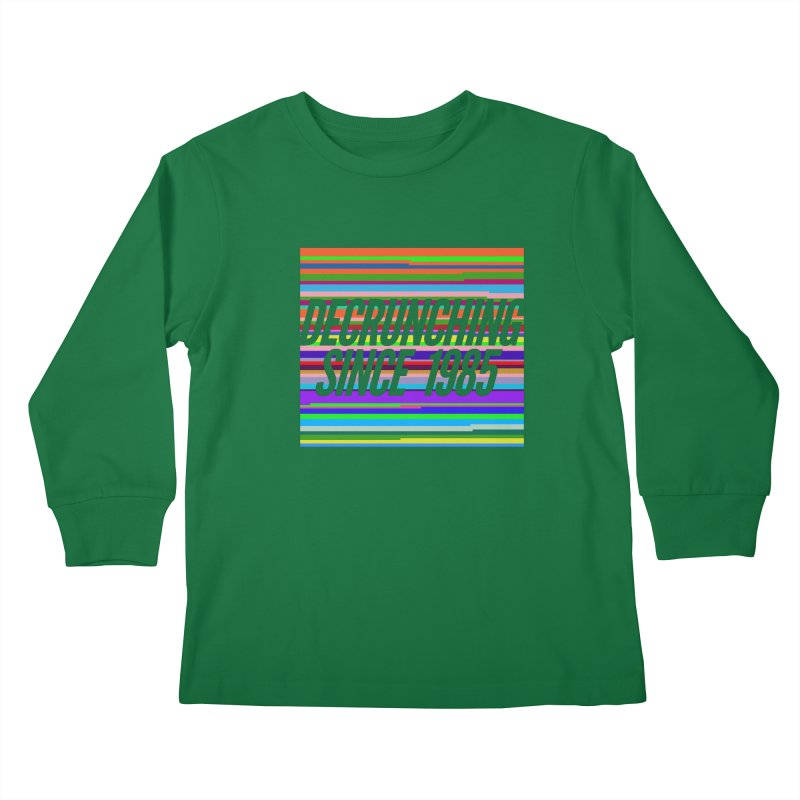 Decrunching Since 1985 Kids Longsleeve T-Shirt by 2pxSolidBlack