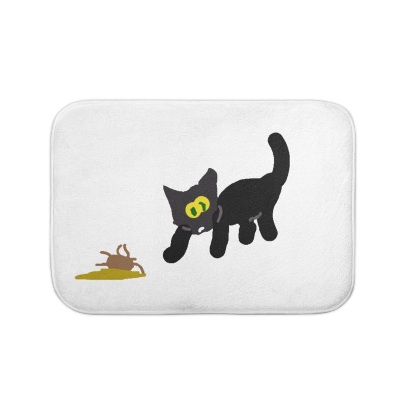 Hairball Apparel & Accessories Home Bath Mat by 2tokens's Artist Shop