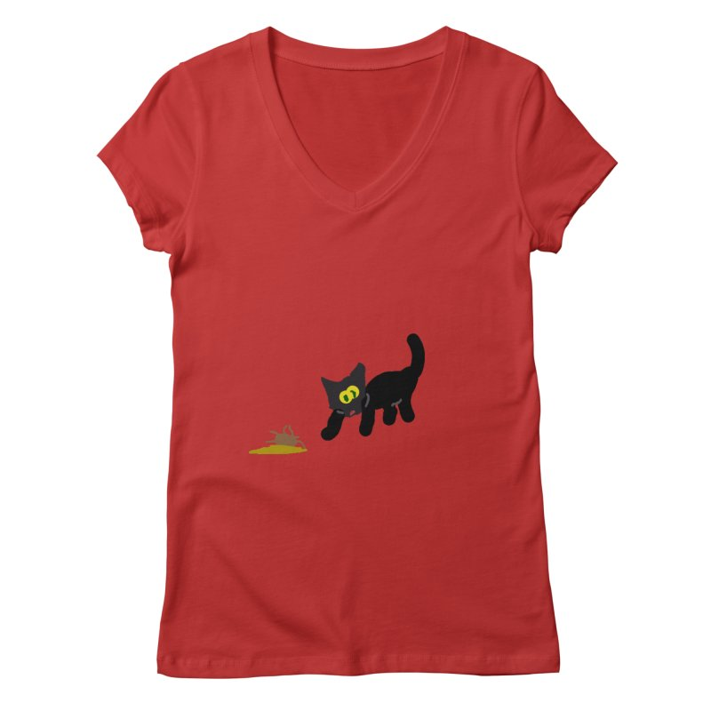 Hairball Apparel & Accessories Women's Regular V-Neck by 2tokens's Artist Shop