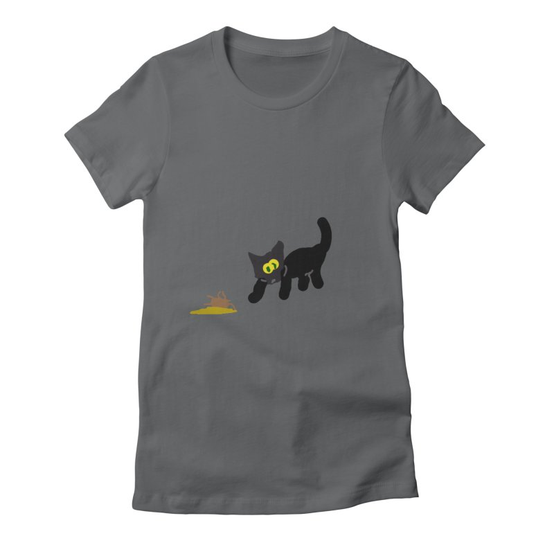 Hairball Apparel & Accessories Women's Fitted T-Shirt by 2tokens's Artist Shop