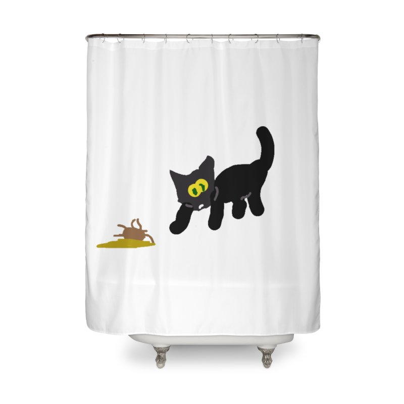 Hairball Apparel & Accessories Home Shower Curtain by 2tokens's Artist Shop