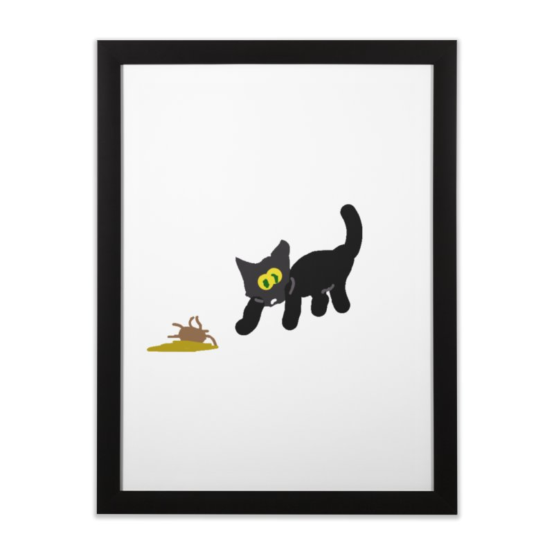 Hairball Apparel & Accessories Home Framed Fine Art Print by 2tokens's Artist Shop