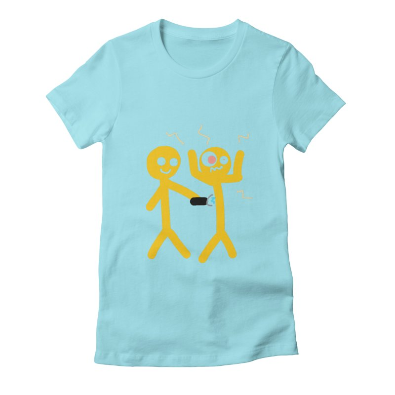 Taser Apparel & Accessories Women's Fitted T-Shirt by 2tokens's Artist Shop