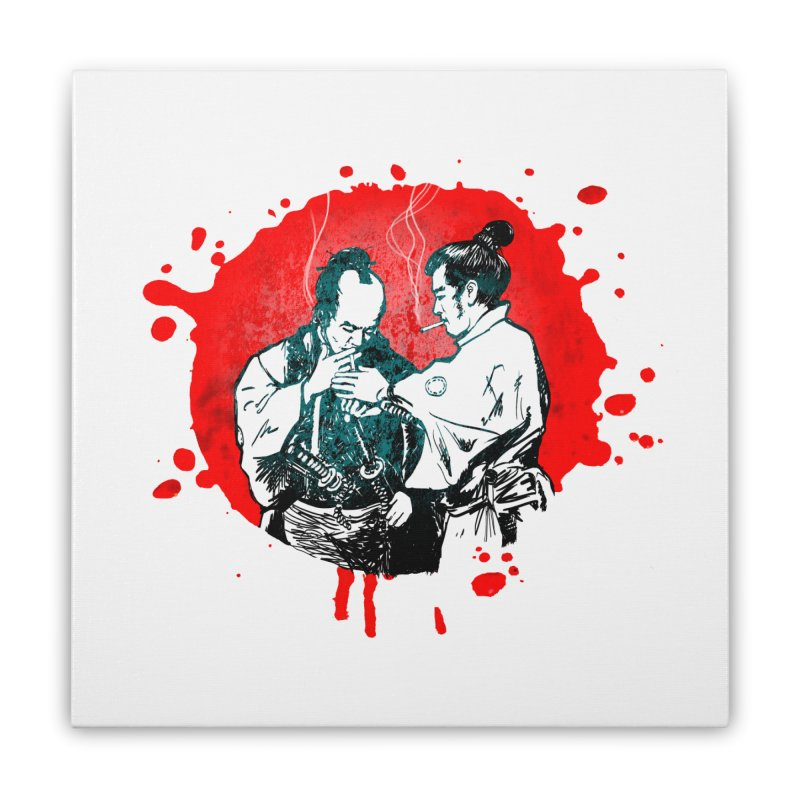 TIME OUT Home Stretched Canvas by 2wetgirls shirtshop