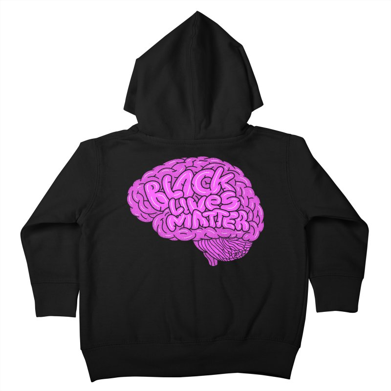 Black Lives Matter - Use Your Noodle Kids Toddler Zip-Up Hoody by 319heads