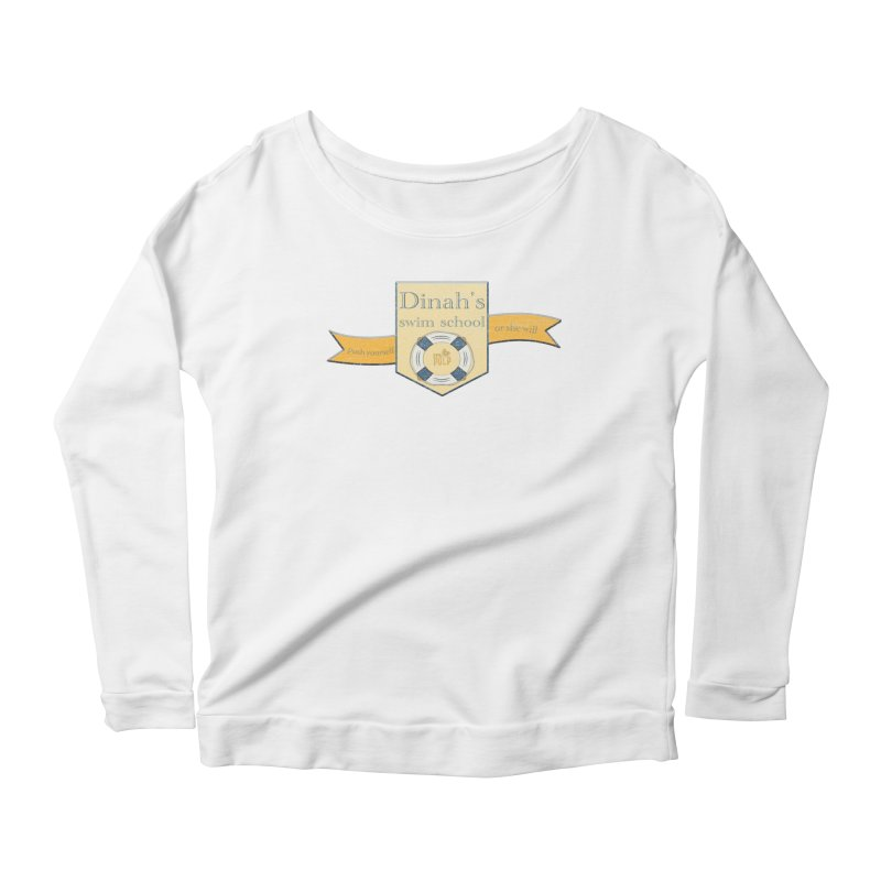 Dinah's Swim School (Buddies) Women's Scoop Neck Longsleeve T-Shirt by 33% Pulp's Merch-Tastic Funzone
