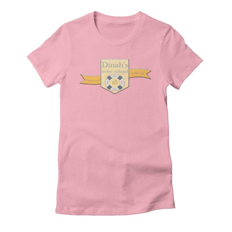 Dinah's Swim School (Buddies) Women's Fitted T-Shirt by 33% Pulp's Merch-Tastic Funzone