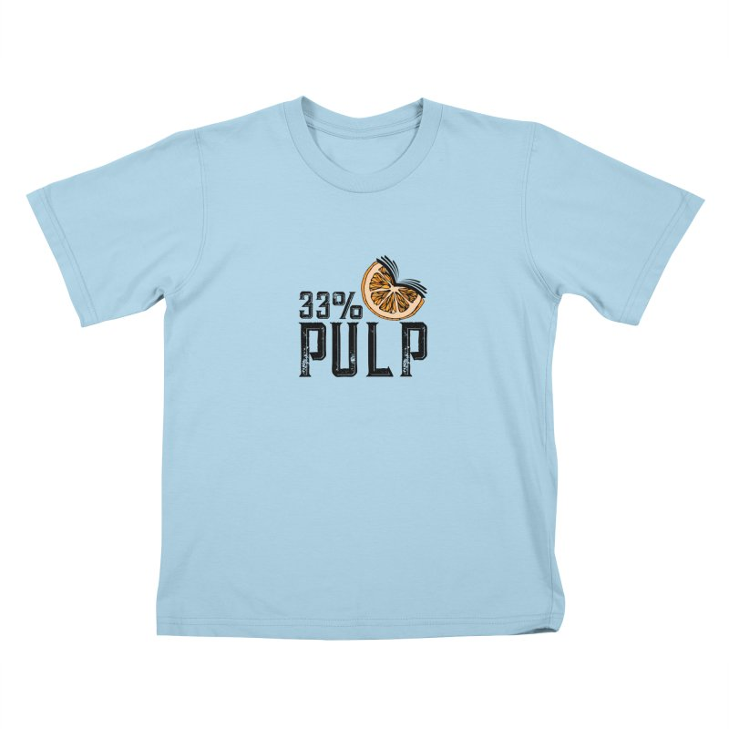33% Pulp Logo Kids T-Shirt by 33% Pulp's Merch-Tastic Funzone
