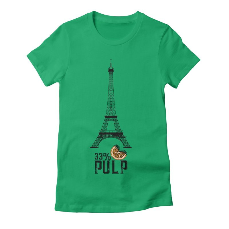 Eiffel Tower (The Pleasure Tube) Women's Fitted T-Shirt by 33% Pulp's Merch-Tastic Funzone
