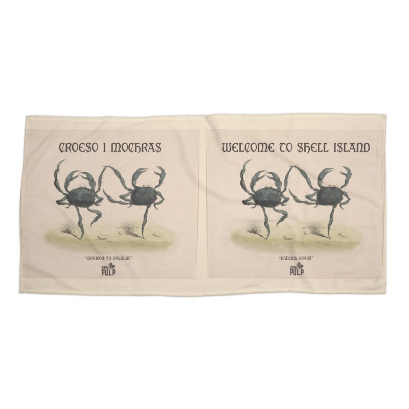 Croeso I Mochras || Welcome to Shell Island Accessories Beach Towel by 33% Pulp's Merch-Tastic Funzone