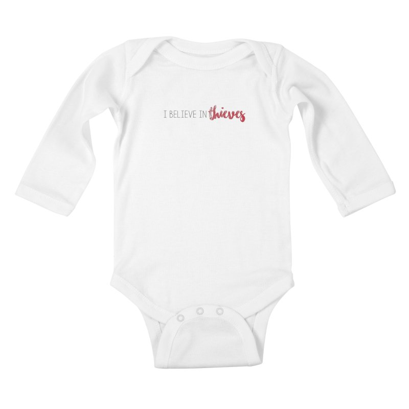 I Believe In Thieves Kids Baby Longsleeve Bodysuit by Sharon Marta Essentials Shop