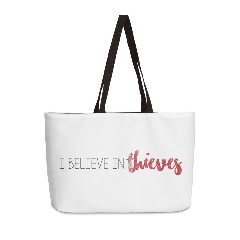 I Believe In Thieves Accessories Weekender Bag Bag by Sharon Marta Essentials Shop