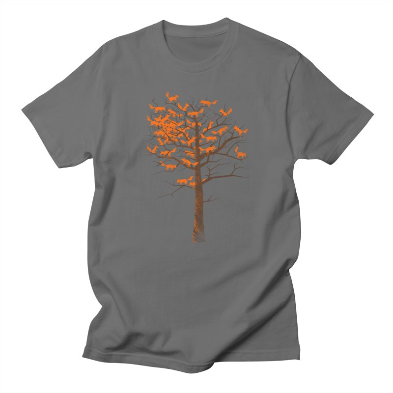 Blazing Fox Tree Men's T-Shirt by 38 Sunsets