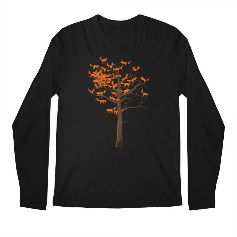 Blazing Fox Tree Men's Regular Longsleeve T-Shirt by 38 Sunsets