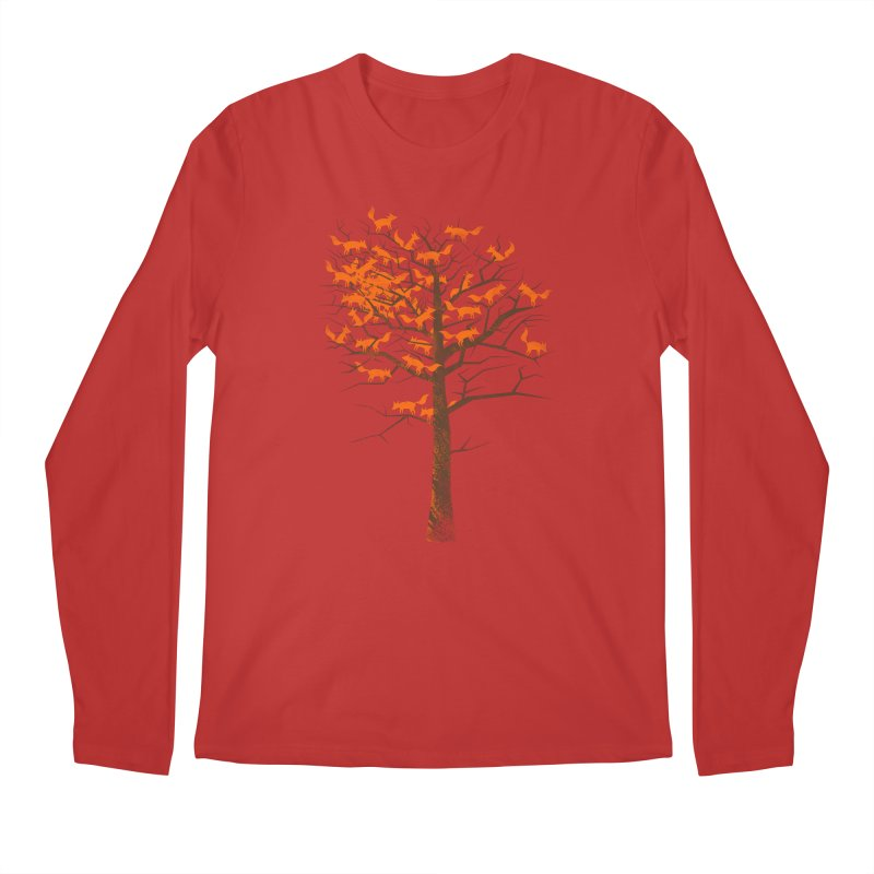 Blazing Fox Tree Men's Regular Longsleeve T-Shirt by 38 Sunsets