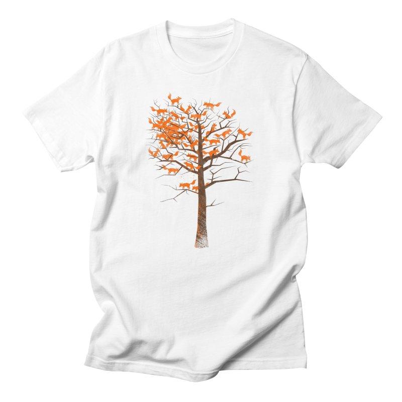 Blazing Fox Tree Men's T-Shirt by 38 Sunsets